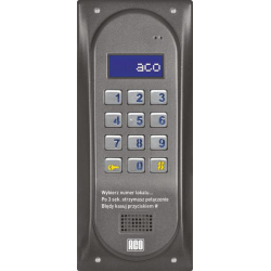 ACO CDNP6ACCS BR CENTRALA DOMOFONOWA grzałka LCD. RFID SLAVE