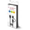 Kabel 2w1 USB microUSB / typ C 1m Savio CL-128