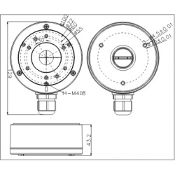 ADAPTER HIKVISION DS-1280ZJ-XS CZARNY