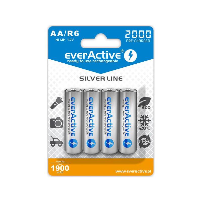 Akumulatorki everActive R6/AA Ni-MH 2000 mAh (box 4szt)