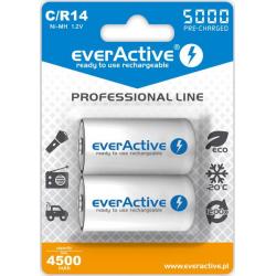 "Akumulatorki C / R14 everActive Ni-MH Ni-MH 5000 mAh ready to use ""Professional line"" (box 2 szt)"