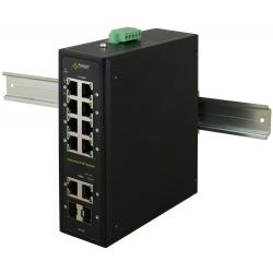 Switch przemysłowy ISF108 (8xPoE, 2xCombo)