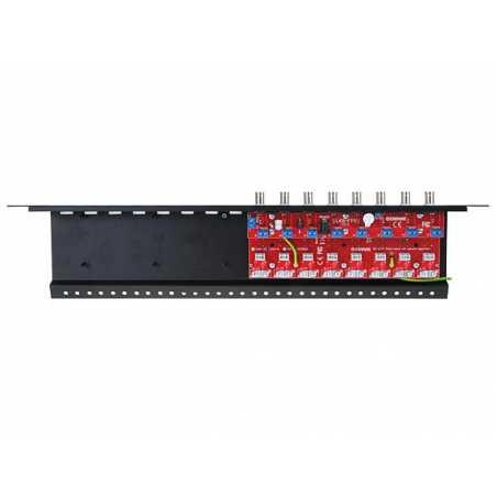 8-kanałowy separator AHD, HD-CVI, HD-TVI z zabezpieczeniem przeciwprzepięciowym i dystrybucją zasilania EWIMAR LHSO-8R-EXT-FPS