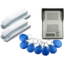 EURA ADP-41A3 Domofon 1-rodzinny z czytnikiem RFID, dwie słuchawki