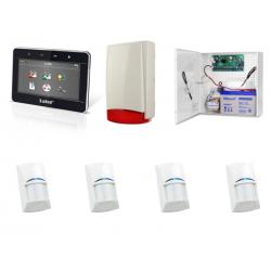 Zestaw alarmowy SATEL Integra 24, klawiatura Graficzna, 4 czujki, sygnalizator zewnętrzny