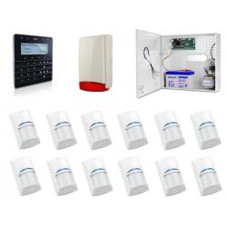 Zestaw alarmowy SATEL Integra 32, klawiatura Sensoryczna, 12 czujek, sygnalizator zewnętrzny