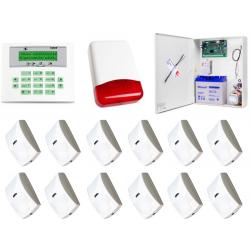 Zestaw alarmowy SATEL Integra 64 LCD, 12 czujek, sygnalizator zewnętrzny