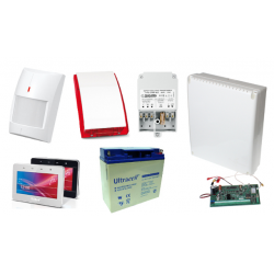 Alarm SATEL BEZPRZEWODOWY  INTEGRA 128WRL GSM 10 x PIR Syg.zew.