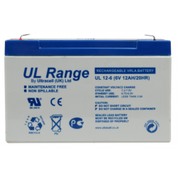 "Akumulator AGM ULTRACELL UL 6V 12AH ""żelowy"""