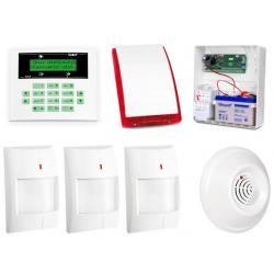 Alarm Satel CA-5 LCD, 3xAqua Plus, DG-1 CO, syg. zew. SP-4001