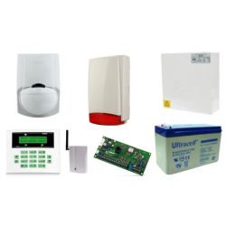 Alarm Satel CA-5 LCD, GSM, 2xLC-100 PI, syg. zew. Beewell