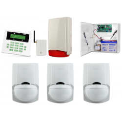 Alarm Satel CA-5 LCD, GSM, 3xLC-100 PI, syg. zew. Beewell