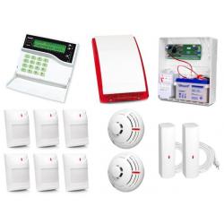 Alarm Satel CA-10 LCD, 6xAqua Plus, 2xFD-1, 2xTSD-1, syg. zew. SP-4003