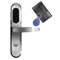 KLAMKA EURA ELH-20B9/SILVER Z CZYTNIKIEM KART RFID SREBRNY