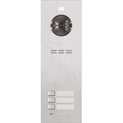 ACO FAM-PRO-3NPACC 3-rodzinny panel wideodomofonowy, podtynkowy, stal nierdzewna, czytnik