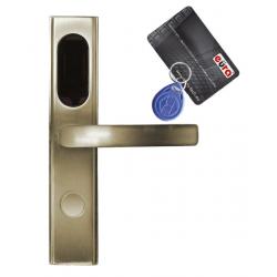 KLAMKA EURA ELH-10B9/BRASS z czytnikiem kart RFID mosiądz