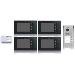 Wideodomofon 4-rodzinny VIDOS DUO 4 x M1021B / S1104A