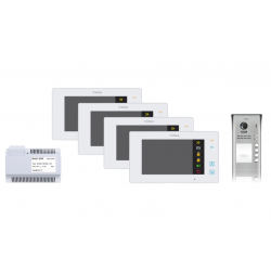 Wideodomofon 4-rodzinny VIDOS DUO 4 x M1021W / S1104A