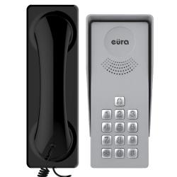 DOMOFON ''EURA'' ADP-37A3 ''INGRESSO NERO'' - 1-rodzinny, kaseta zewnętrzna z szyfratorem