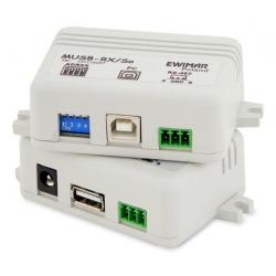 Adresowalny przedłużacz myszy USB z separowanym odbiornikiem EWIMAR MUSB-1/1/So v3.2