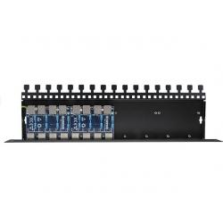 8-kanałowy panel zabezpieczający serii PRO z podwyższoną ochroną przepięciową POE EWIMAR PTF-8R-PRO/PoE