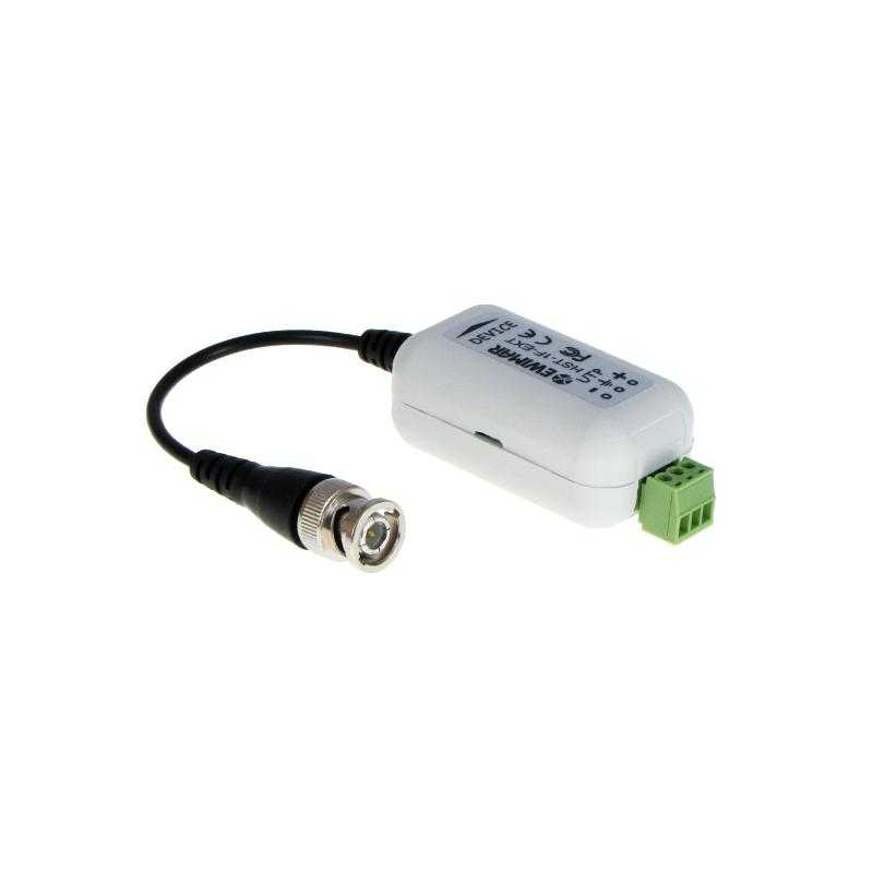 Separator galwaniczny z konwerterem UTP i zabezpieczeniem do AHD, HD-CVI, HD-TVI EWIMAR HST-1F-EXT