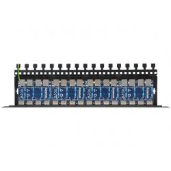16-kanałowy panel zabezpieczający LAN z ochroną przepięciową PoE EWIMAR PTF-16R-ECO/PoE