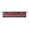 16-kanałowy separator AHD, HD-CVI, HD-TVI z zabezpieczeniem przeciwprzepięciowym i dystrybucją zasilania EWIMAR LHSO-16R-EXT-FPS