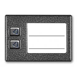 ACO CDN-2NP ST Podświetlany panel listy lokatorów z 2 przyciskami