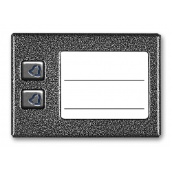 ACO CDN-2NP GR Podświetlany panel listy lokatorów z 2 przyciskami