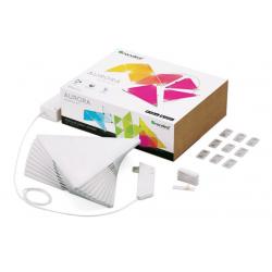 INTELIGENTNE PANELE LED Aurora Nanoleaf Light Panels Smarter Kit WI-FI (Zestaw 9 paneli)