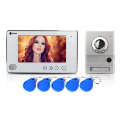 Wideodomofon 7 cali, czytnik RFID PROCOMM VP-716A/W biały