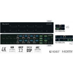 Key Digital Matryca HDMI/HDBT/POH 4K z niezależnym przełączaniem audio KD-Pro8x8D